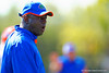 Florida Gators defensive line coach Chris Rumph yells out to his defensive line during a position drill.  Florida Gators Football Sixth Spring Practice.  March 25th, 2016. Gator Country photo by David Bowie.