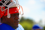 Florida Gators defensive lineman Bryan Cox, Jr. gets a rest between drills.  Florida Gators Football Sixth Spring Practice.  March 25th, 2016. Gator Country photo by David Bowie.