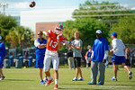 Florida Gators head coach Jim McElwain watches on as the quarterbacks go through their practice drills.  Florida Gators Football Sixth Spring Practice.  March 25th, 2016. Gator Country photo by David Bowie.