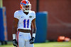 Florida Gators wide receiver Demarcus Robinson awaits his turn during a receiving drill.  Florida Gators Football Sixth Spring Practice.  March 25th, 2016. Gator Country photo by David Bowie.