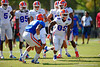 Florida Gators wide receiver Alvin Bailey jukes to get bu Florida Gators defensive back Jalen Tabor during a position drill.  Florida Gators Football Sixth Spring Practice.  March 25th, 2016. Gator Country photo by David Bowie.