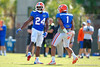 Florida Gators defensive back Brian Poole and Florida Gators defensive back Vernon Hargreaves, III having a good time during practice.  Florida Gators Football Sixth Spring Practice.  March 25th, 2016. Gator Country photo by David Bowie.