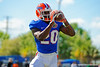 Florida Gators defensive back Marcus Maye leaps up and makes the catch during an interception drill.  Florida Gators Football Sixth Spring Practice.  March 25th, 2016. Gator Country photo by David Bowie.