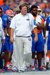 Florida Gators head coach Jim McElwain walks the sideline during the first half as the Florida Gators take on the Florida Atlantic University Owls.  November 21st, 2015. Gator Country photo by David Bowie.