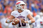 FAU quarterback Jason Driskel, brother of former Florida Gators quarerback Jeff Driskel, throws downfield during the first half as the Florida Gators take on the Florida Atlantic University Owls.  November 21st, 2015. Gator Country photo by David Bowie.