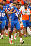 Florida Gators wide receiver Demarcus Robinson and the Florida Gators celebrate their overtime win over the FAU Owls 20-14.  November 21st, 2015. Gator Country photo by David Bowie.
