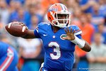 Florida Gators quarterback Treon Harris throwing during the first half as the Florida Gators take on the Florida Atlantic University Owls.  November 21st, 2015. Gator Country photo by David Bowie.