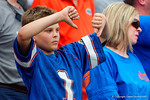 A Florida Gators fan reacts to an FAU score during the second half as the Florida Gators take on the Florida Atlantic University Owls.  November 21st, 2015. Gator Country photo by David Bowie.
