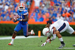 Florida Gators running back Kelvin Taylor rushing during the second half as the Florida Gators take on the Florida Atlantic University Owls.  November 21st, 2015. Gator Country photo by David Bowie.