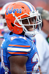 Florida Gators defensive back Brian Poole flashes a smile during the first half as the Florida Gators take on the Florida Atlantic University Owls.  November 21st, 2015. Gator Country photo by David Bowie.