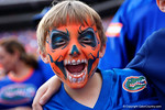 A Florida Gators fan keeps cheering on his team during the second half as the Florida Gators take on the Florida Atlantic University Owls.  November 21st, 2015. Gator Country photo by David Bowie.