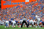 Florida Gators kicker Austin Hardin lines up for a field goal, which he missed, during the first half as the Florida Gators take on the Florida Atlantic University Owls.  November 21st, 2015. Gator Country photo by David Bowie.