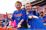 Florida Gator fans cheer on their team during the first half as the Florida Gators take on the Florida Atlantic University Owls.  November 21st, 2015. Gator Country photo by David Bowie.