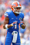 Florida Gators defensive back Vernon Hargreaves, III dacnces around during the first half as the Florida Gators take on the Florida Atlantic University Owls.  November 21st, 2015. Gator Country photo by David Bowie.