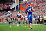 Florida Gators tight end Jake McGee catches what would be the winning touchdown during overtime as the Florida Gators hold on to win 20-14 over the Florida Atlantic University Owls.  November 21st, 2015. Gator Country photo by David Bowie.