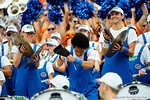 A cow bell player for the University of Florida band goes to town on the bell performing Don't Fear the Reaper by the Blue Oyster Cult  during the second half as the Florida Gators take on the Florida Atlantic University Owls.  November 21st, 2015. Gator Country photo by David Bowie.