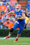 Florida Gators tight end Jake McGee rushes downfield following a catch in the first half as the Florida Gators take on the Florida Atlantic University Owls.  November 21st, 2015. Gator Country photo by David Bowie.