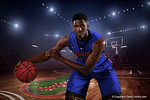 Florida Gators freshman forward Kevarrius Hayesposes for portraits during the 2015 Gators basketball media day.  September 29th, 2015. Gator Country photo by David Bowie.