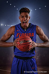 Florida Gators forward Devin Robinson poses for portraits during the 2015 Gators basketball media day.  September 29th, 2015. Gator Country photo by David Bowie.