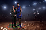 Florida Gators head coach Mike White and Florida Gators forward Devin Robinson pose for portraits during the 2015 Gators basketball media day.  September 29th, 2015. Gator Country photo by David Bowie.