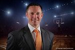 Florida Gators head coach Mike White poses for portraits during the 2015 Gators basketball media day.  September 29th, 2015. Gator Country photo by David Bowie.