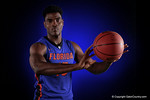 Florida Gators center John Egbunu poses for portraits during the 2015 Gators basketball media day.  September 29th, 2015. Gator Country photo by David Bowie.