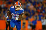 Florida Gators running back Jordan Scarlett rushing during the 61-13 win over New Mexico State.  September 5th, 2015.  Gator Country Photo by David Bowie.