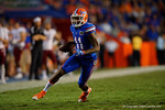 Florida Gators wide receiver Demarcus Robinson sprints downfield during the Gators 61-13 win over New Mexico State to start the 2015 season.  September 5th, 2015.  Gator Country Photo by David Bowie.