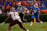 Florida Gators quarterback Treon Harris rushes downfield during the Gators 61-13 win over New Mexico State to start the 2015 season.  September 5th, 2015.  Gator Country Photo by David Bowie.
