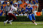 Florida Gators wide receiver Antonio Callaway sprints downfield during the Gators 61-13 win over New Mexico State to start the 2015 season.  September 5th, 2015.  Gator Country Photo by David Bowie.