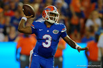 Florida Gators quarterback Treon Harris throwing downfield during the 61-13 win over New Mexico State.  September 5th, 2015.  Gator Country Photo by David Bowie.