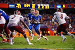 Florida Gators running back Jordan Cronkrite rishes into the endzone during the 61-13 win over New Mexico State.  September 5th, 2015.  Gator Country Photo by David Bowie.