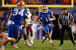 Florida Gators defensive back Vernon Hargreaves, III intercepts the ball and sprints upfield during the 61-13 win over New Mexico State.  September 5th, 2015.  Gator Country Photo by David Bowie.