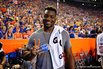 Jacksonville Jaquars and ex Florida Gator defensive end Daunte Fowler Jr. in attendance during the Gators 61-13 win over New Mexico State to start the 2015 season.  September 5th, 2015.  Gator Country Photo by David Bowie.