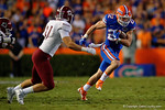 Florida Gators running back Case Harrison rushing during the Gators 61-13 win over New Mexico State to start the 2015 season.  September 5th, 2015.  Gator Country Photo by David Bowie.