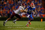 Florida Gators running back Jordan Scarlett sprinting downfield during the Gators 61-13 win over New Mexico State to start the 2015 season.  September 5th, 2015.  Gator Country Photo by David Bowie.