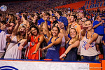 Fans cheer on their Florida Gators during the Gators 61-13 win over New Mexico State to start the 2015 season.  September 5th, 2015.  Gator Country Photo by David Bowie.