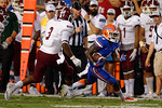 Florida Gators running back Brandon Powell sprints down the sideline during the Gators 61-13 win over New Mexico State to start the 2015 season.  September 5th, 2015.  Gator Country Photo by David Bowie.
