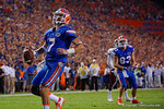 Florida Gators quarterback Will Grier walks into the endzone during the 61-13 win over New Mexico State.  September 5th, 2015.  Gator Country Photo by David Bowie.