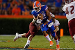 Florida Gators quarterback Josh Grady with a quarterback keeper during the Gators 61-13 win over New Mexico State to start the 2015 season.  September 5th, 2015.  Gator Country Photo by David Bowie.