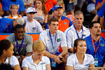 University of Florida Gators recruits Sam Bruce and Jake Allen in attendance during the Gators 61-13 win over New Mexico State to start the 2015 season.  September 5th, 2015.  Gator Country Photo by David Bowie.