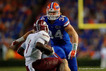 Florida Gators linebacker Alex Anzalone comes sprinting in for a tackle during the Gators 61-13 win over New Mexico State to start the 2015 season.  September 5th, 2015.  Gator Country Photo by David Bowie.