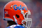 The Gators helmet during the Gators 61-13 win over New Mexico State to start the 2015 season.  September 5th, 2015.  Gator Country Photo by David Bowie.