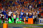 Florida Gators running back Jordan Scarlett sprints into the endzone during the Gators 61-13 win over New Mexico State to start the 2015 season.  September 5th, 2015.  Gator Country Photo by David Bowie.