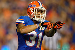 Florida Gators defensive back Jalen Tabor signals to the sideline during the Gators 61-13 win over New Mexico State to start the 2015 season.  September 5th, 2015.  Gator Country Photo by David Bowie.