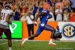 Florida Gators wide receiver C'yontai Lewis sprints into the endzone for a touchdown during the 61-13 win over New Mexico State.  September 5th, 2015.  Gator Country Photo by David Bowie.