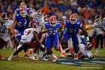 Florida Gators running back Mark Herndon gets the ball during the Gators 61-13 win over New Mexico State to start the 2015 season.  September 5th, 2015.  Gator Country Photo by David Bowie.