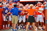 The Gators wait to take the field during the 2015 Orange and Blue Debut.  April 11th 2015. Gator Country photo by David Bowie.