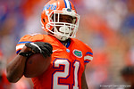 Florida Gators running back Kelvin Taylor rushes in for his first of two touchdowns during the 2015 Orange and Blue Debut.  April 11th 2015. Gator Country photo by David Bowie.