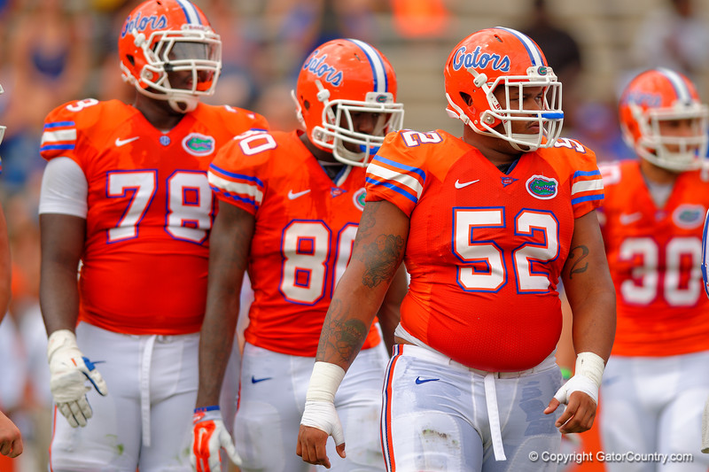 Florida Gators offensive lineman Travaris Dorsey during the 2015 Orange and Blue Debut.  April 11th 2015. Gator Country photo by David Bowie.
